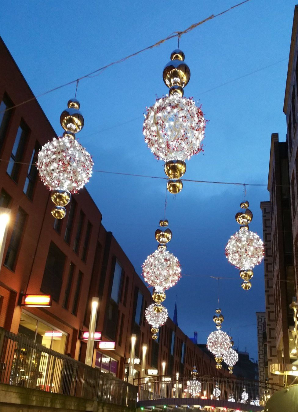 Christmas decorations in the street