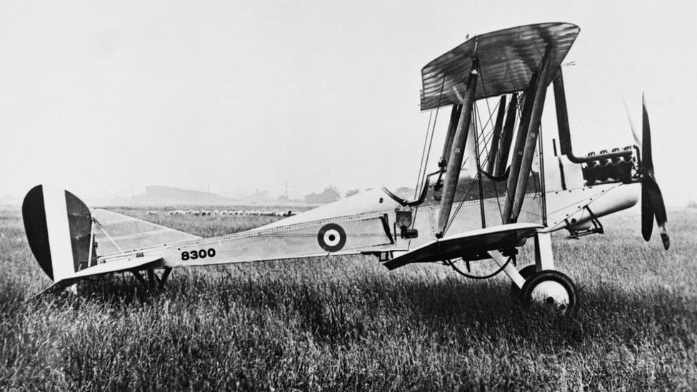 The BE2c -a two-seat reconnaissance aircraft, fitted with bomb-rack - was built in Lincoln