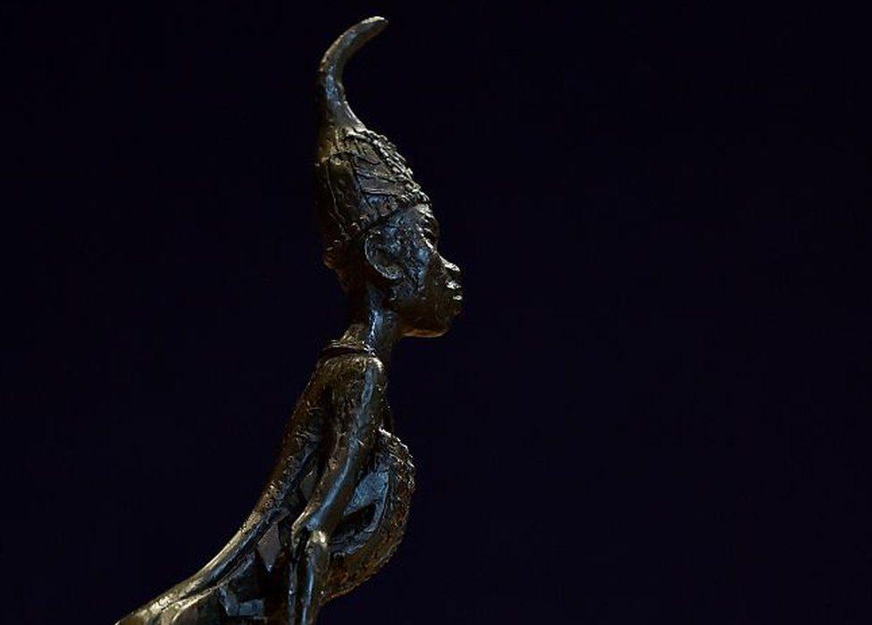 A photo of one of Ben Enwonwu's sculptures