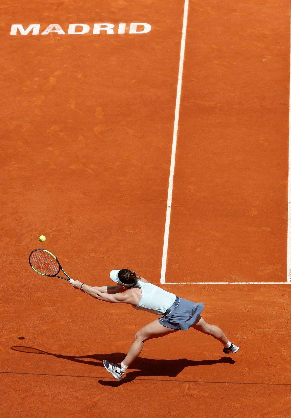 Romania's Simona Halep in action