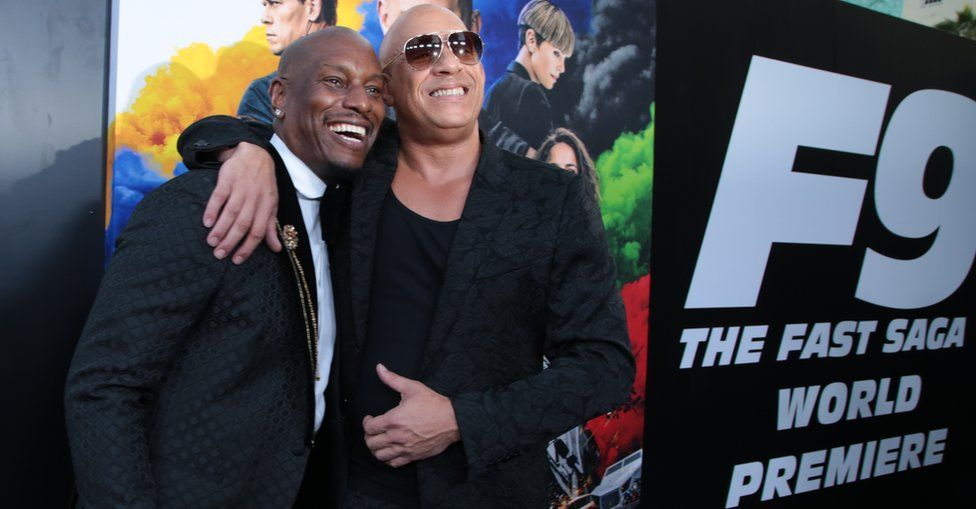 Tyrese Gibson and Vin Diesel