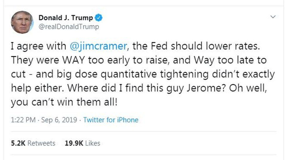 Donald Trump tweet