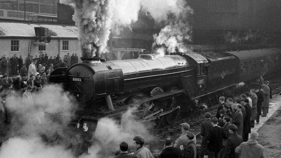 The Flying Scotsman in full steam