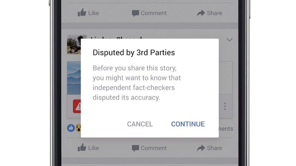 """Screengrab of """"Disputed by 3rd parties"""" pop-up message"""