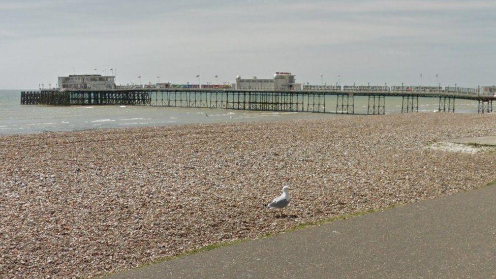 Gull on Worthing beach