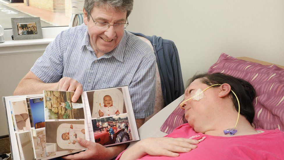 Thomas's wife Dee is in a nursing home because of a neurological condition