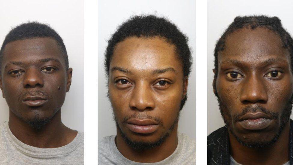 Three of the convicted men