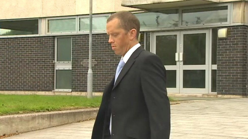 Photo of Michael Marsden outside court