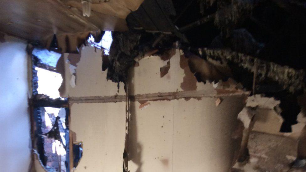 Damage in Mr Manan's property