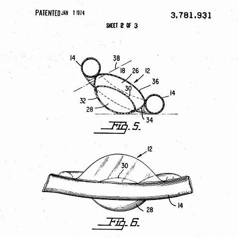 a detail from Barbara Knickerbocker's 1974 patent for a balancing device