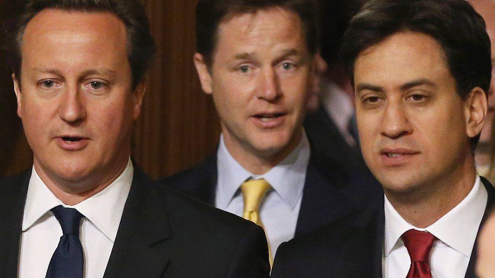 Cameron, Clegg and Miliband