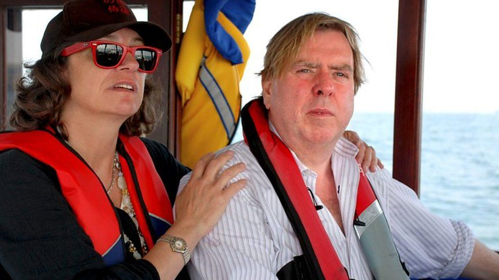 Timothy Spall and his wife Shane in All At Sea