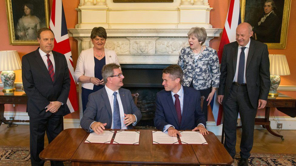 The 2017 confidence and supply deal is signed