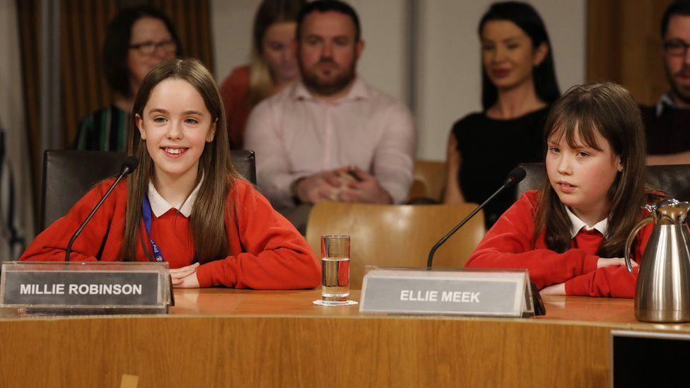 Ellie Meek and Millie Robinson