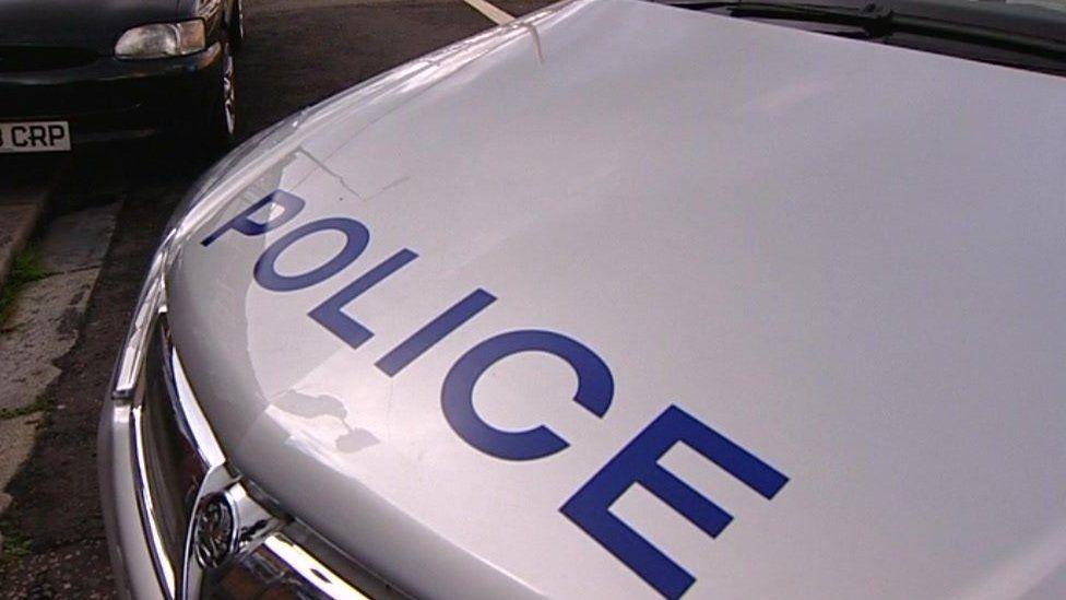 Police car bonnet