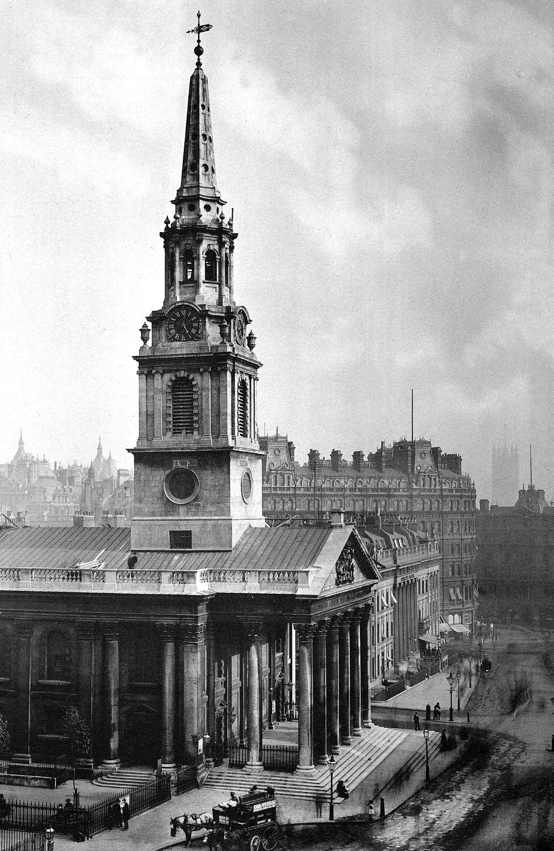 St Martin-in-the-Fields, Trafalgar Square, London - 1896