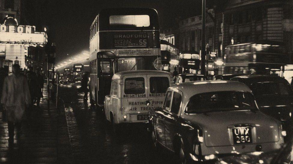Traffic On The Headrow, Leeds, 1950s, courtesy of Bianca Wallis-Salmon