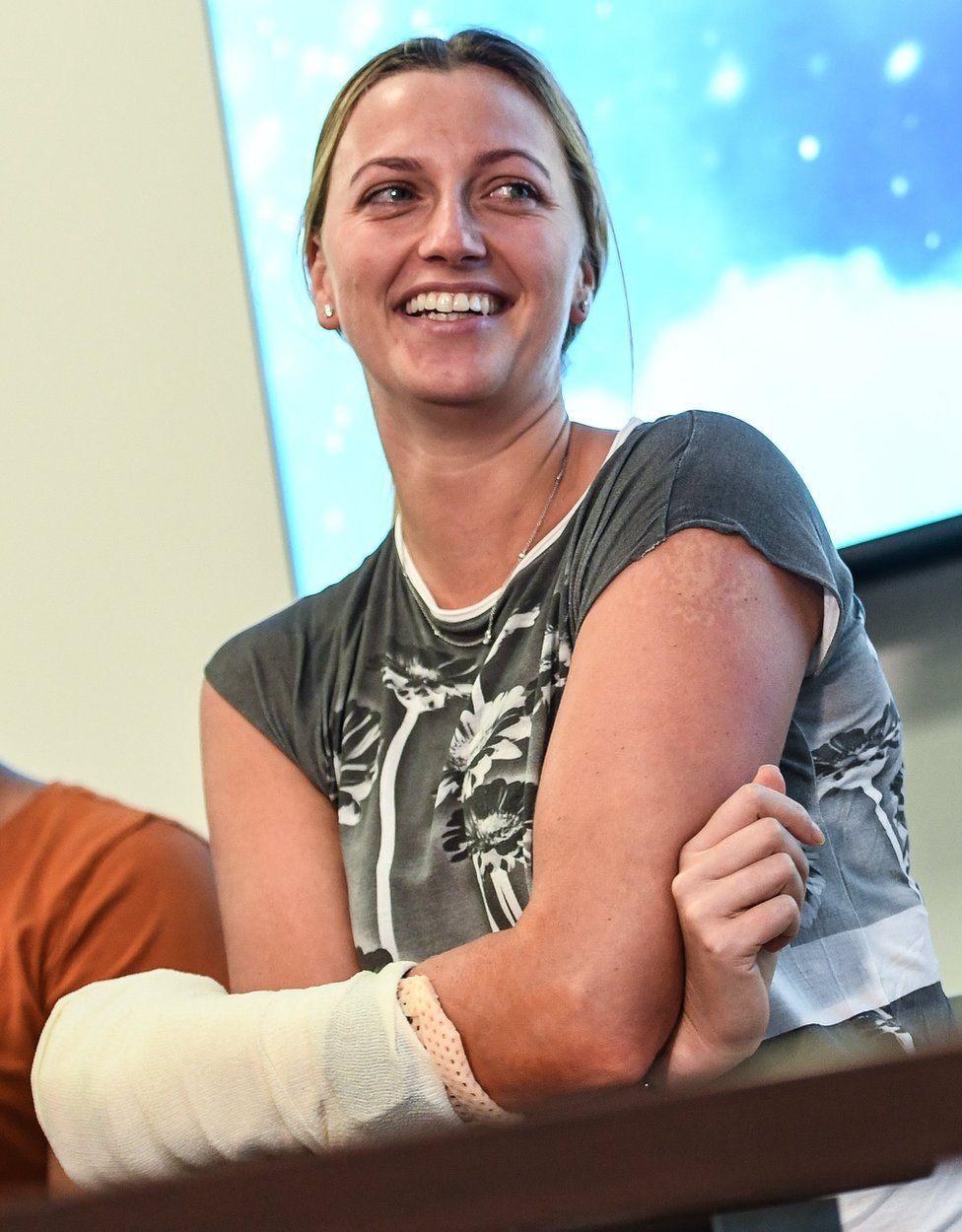 Petra Kvitova after the attack