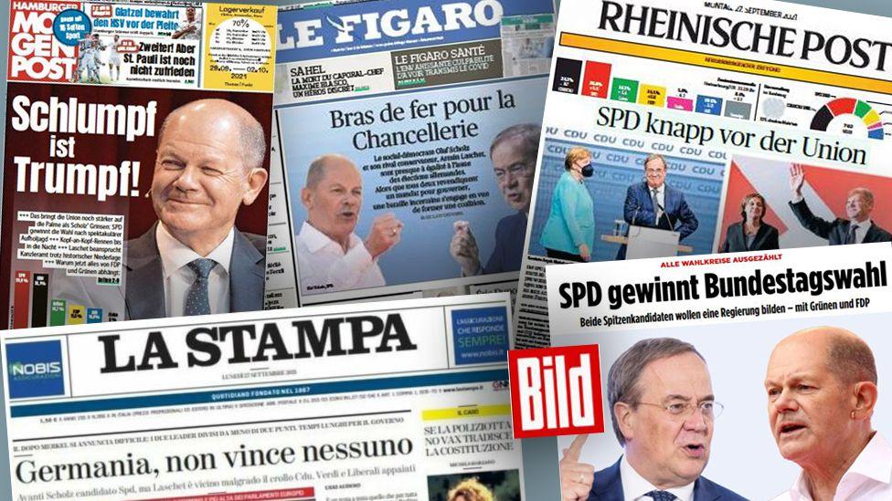 European newspapers on German elections