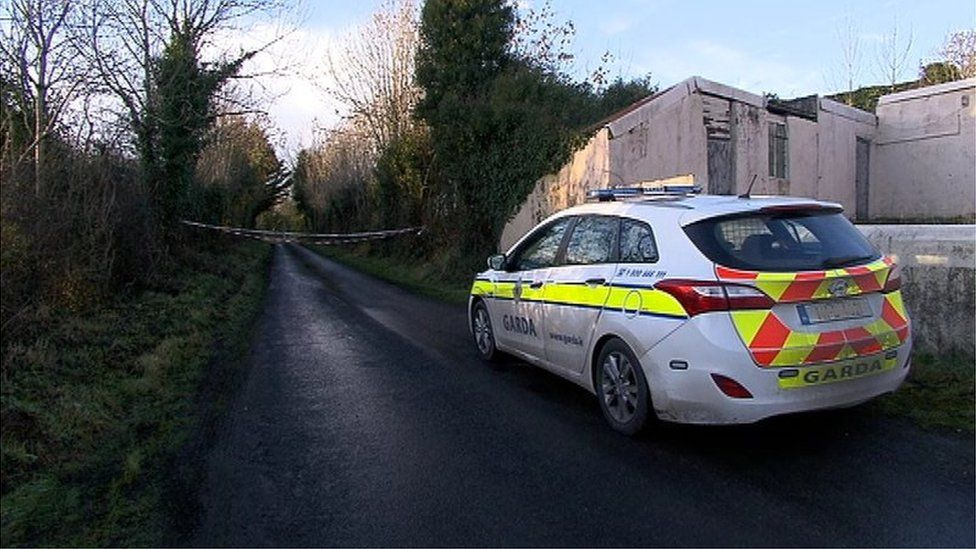 A Garda car near the scene of the attack