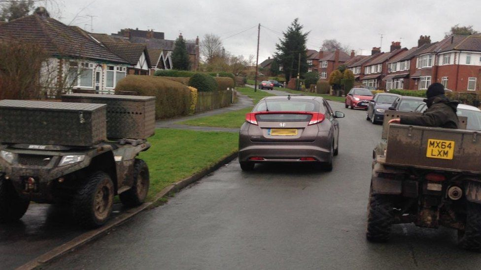 """Quad vehicles on the street where foxhounds caused """"mayhem"""""""