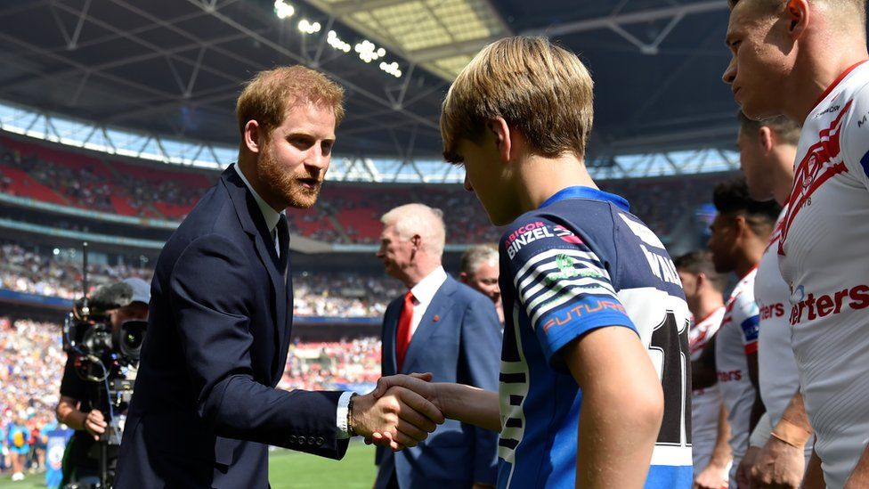 The Duke of Sussex at last year's Rugby League Challenge Cup Final