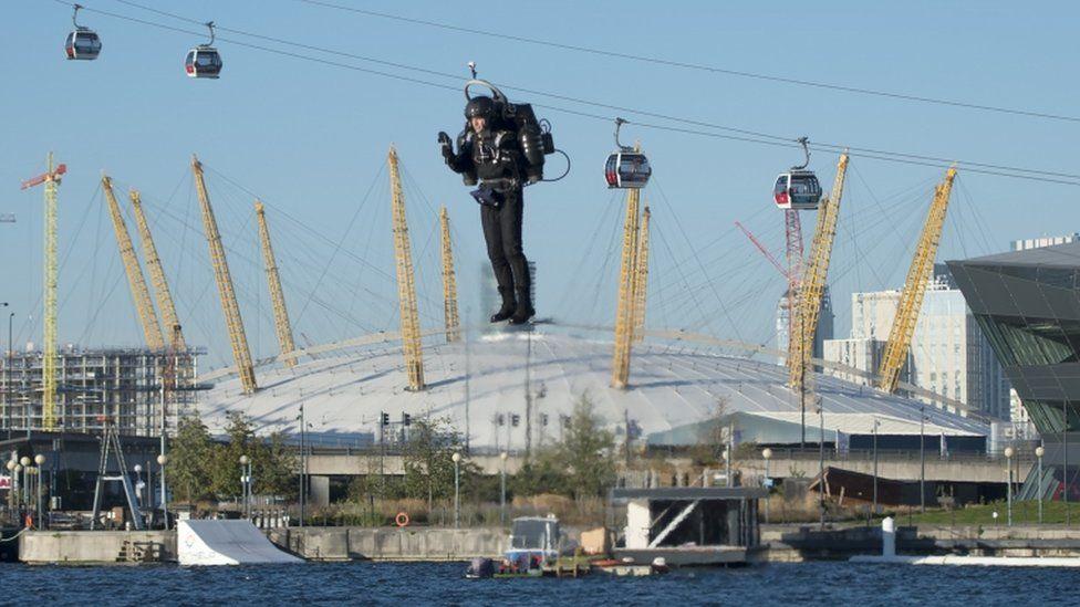 David Mayman testing the jetpack