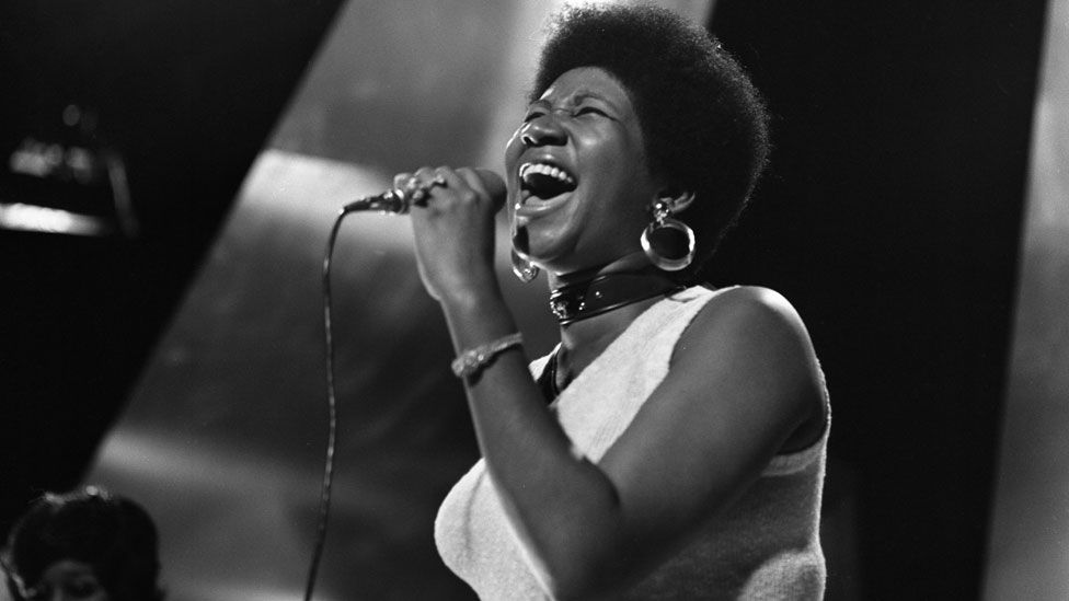 Aretha Franklin on Top of the Pops in August 1968