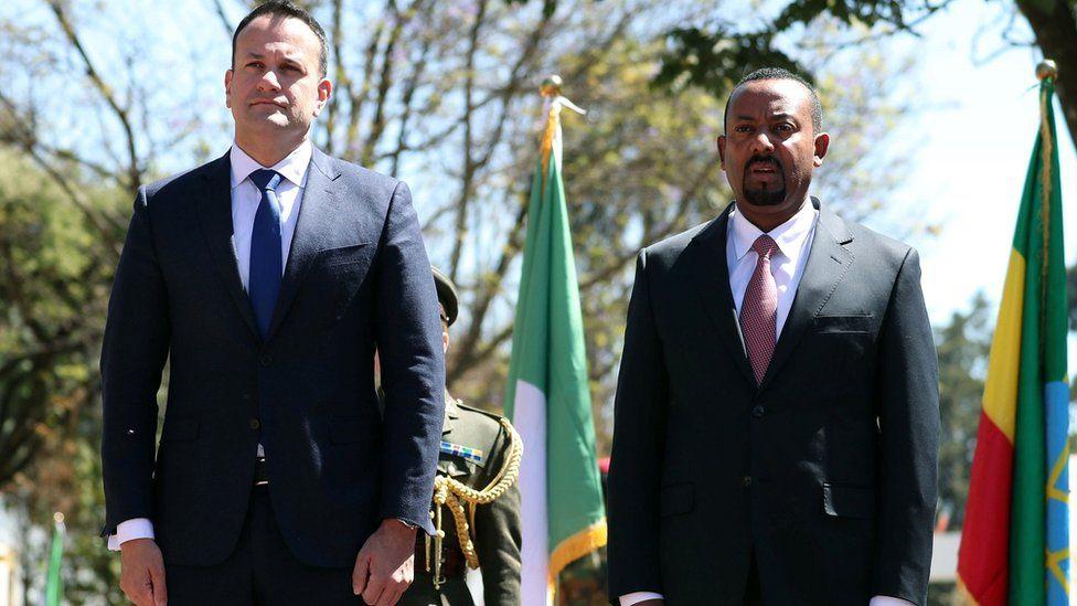 "Leo Varadkar, Ireland""s Prime Minister and his Ethiopian counterpart Abiy Ahmed"