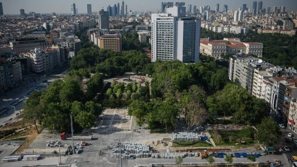 View of Gezi Park, in central Istanbul 30/05/2016