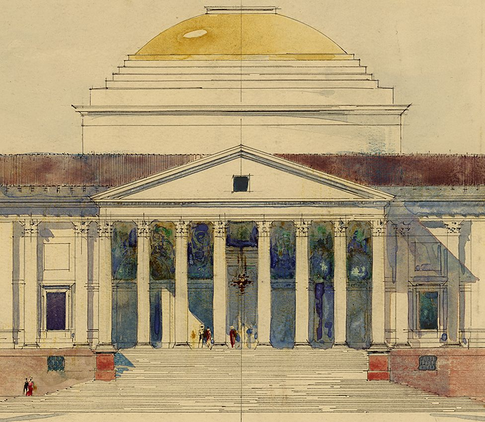Design for the Viceroy's House, New Delhi - by Edwin Lutyens - 1912