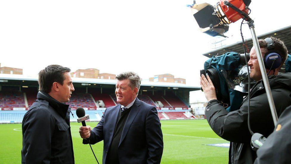 Sky Pundit Gary Neville speaks on camera
