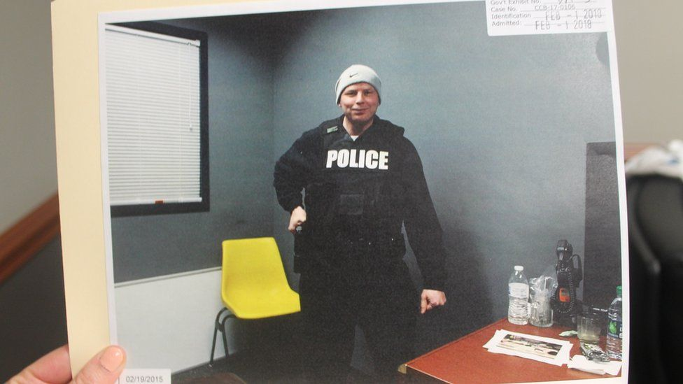 Donald Stepp in a police uniform