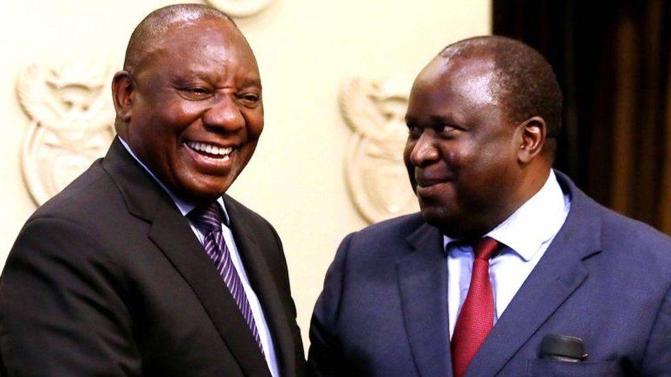 Cyril Ramaphosa and Tito Mboweni