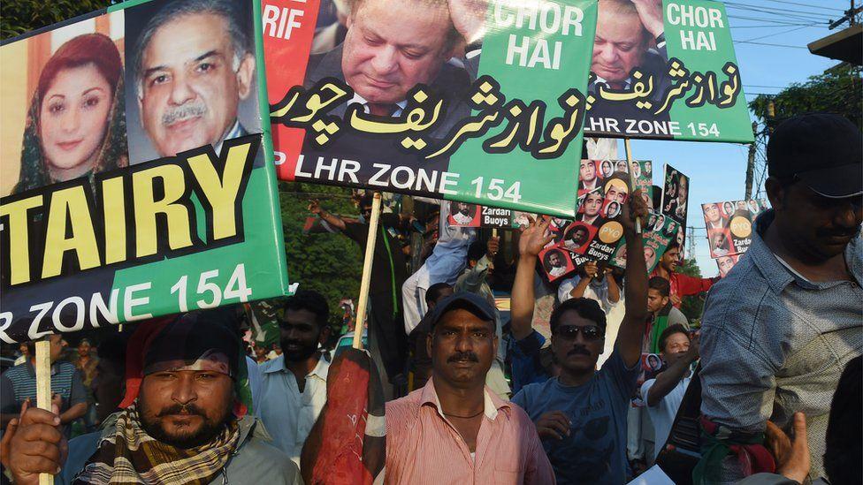 Anti-Sharif protesters