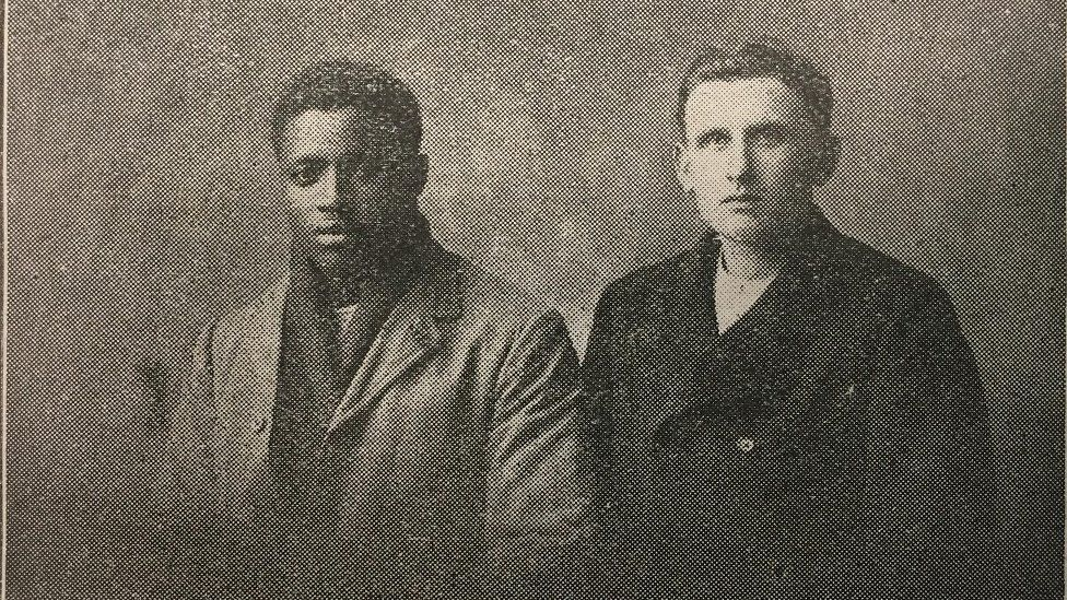 Two of the survivors of the SS Belgian Prince