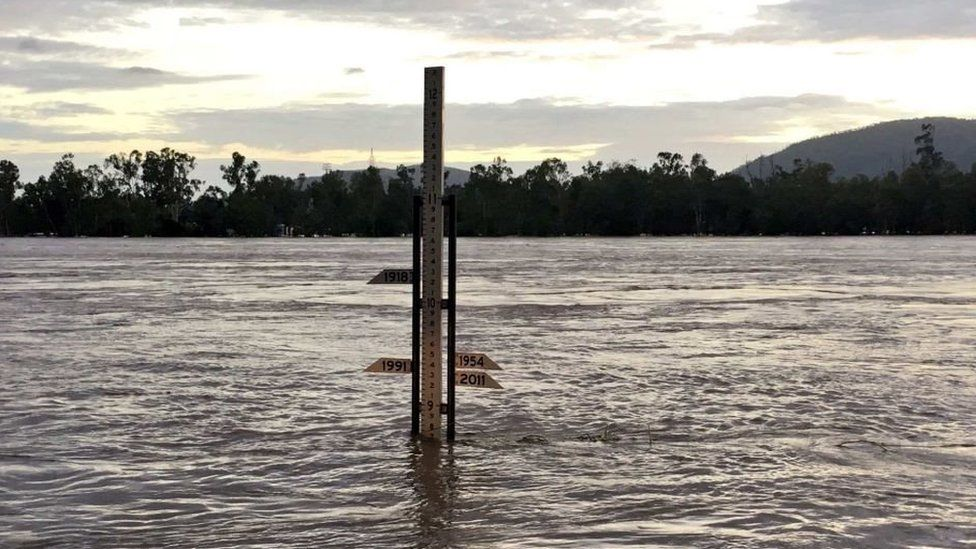 The Fitzroy River at Rockhampton was at 8.7m on Thursday morning