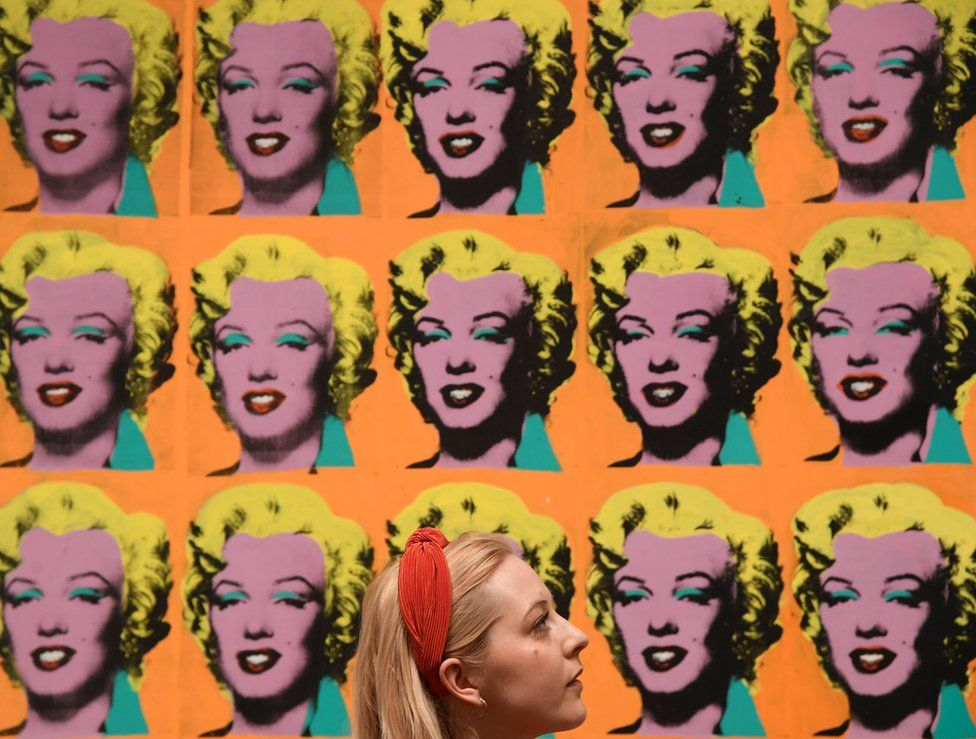 Warhol's celebrated Marilyn Diptych is part of a retrospective his works at Tate Modern in London
