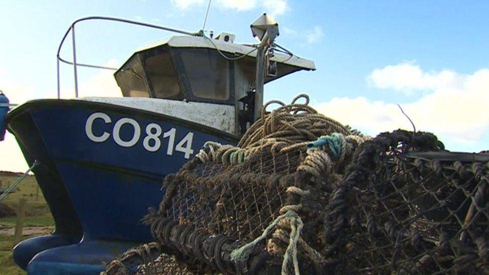 Fishing boat on Llŷn peninsular