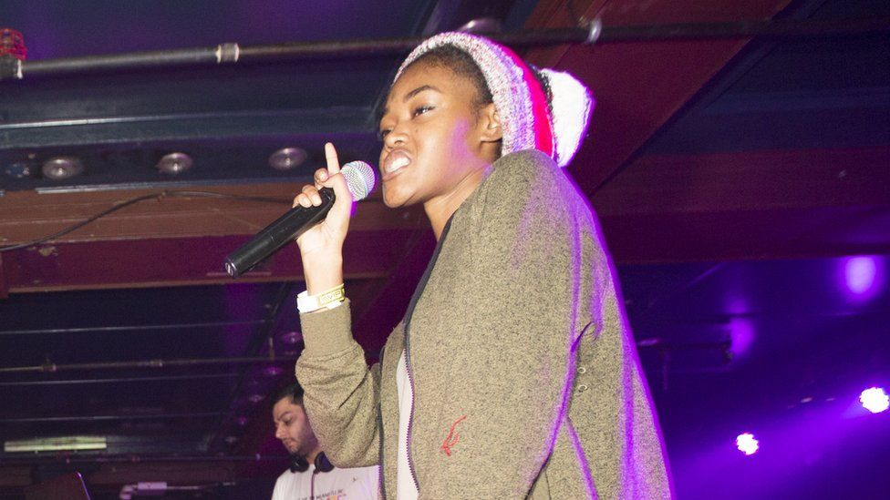 Chynna performing on stage