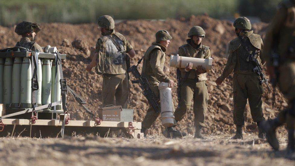 Israeli forces at the Gaza Border, Israel, 17 May 2021