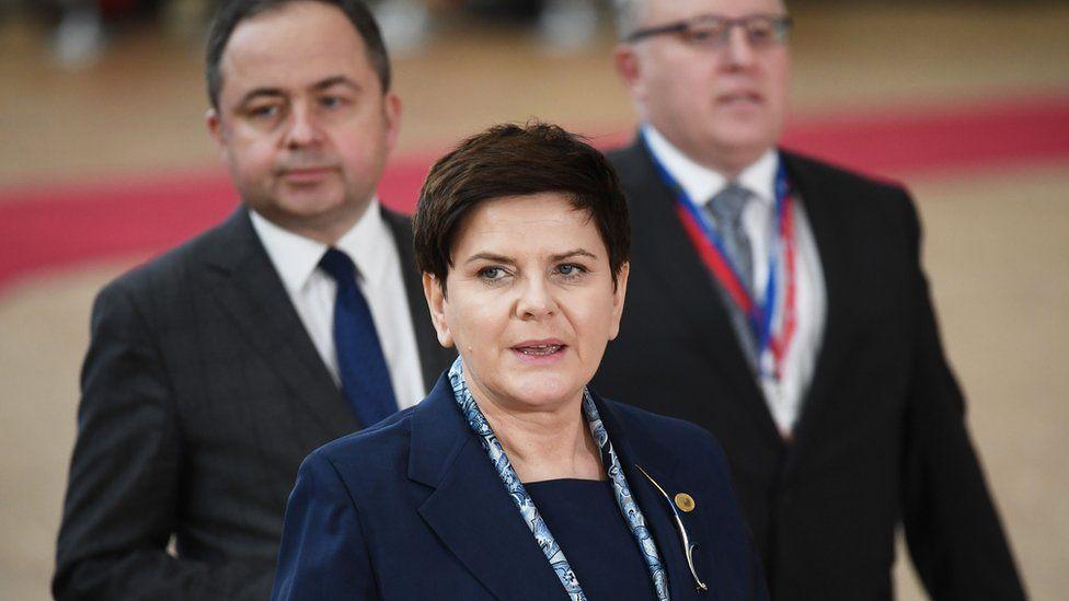 Beata Szydlo at summit
