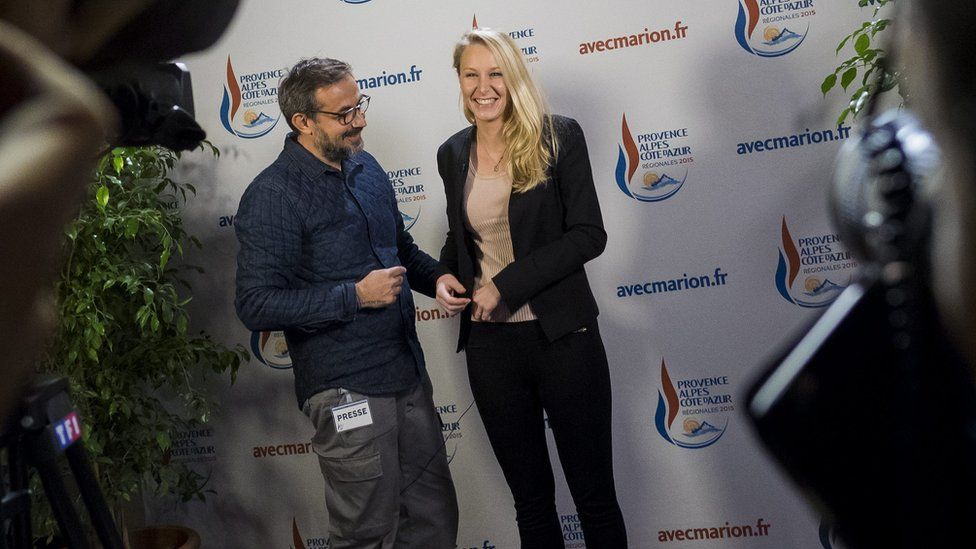 Far right National Front party regional leader for south-eastern France, Marion Marechal Le Pen