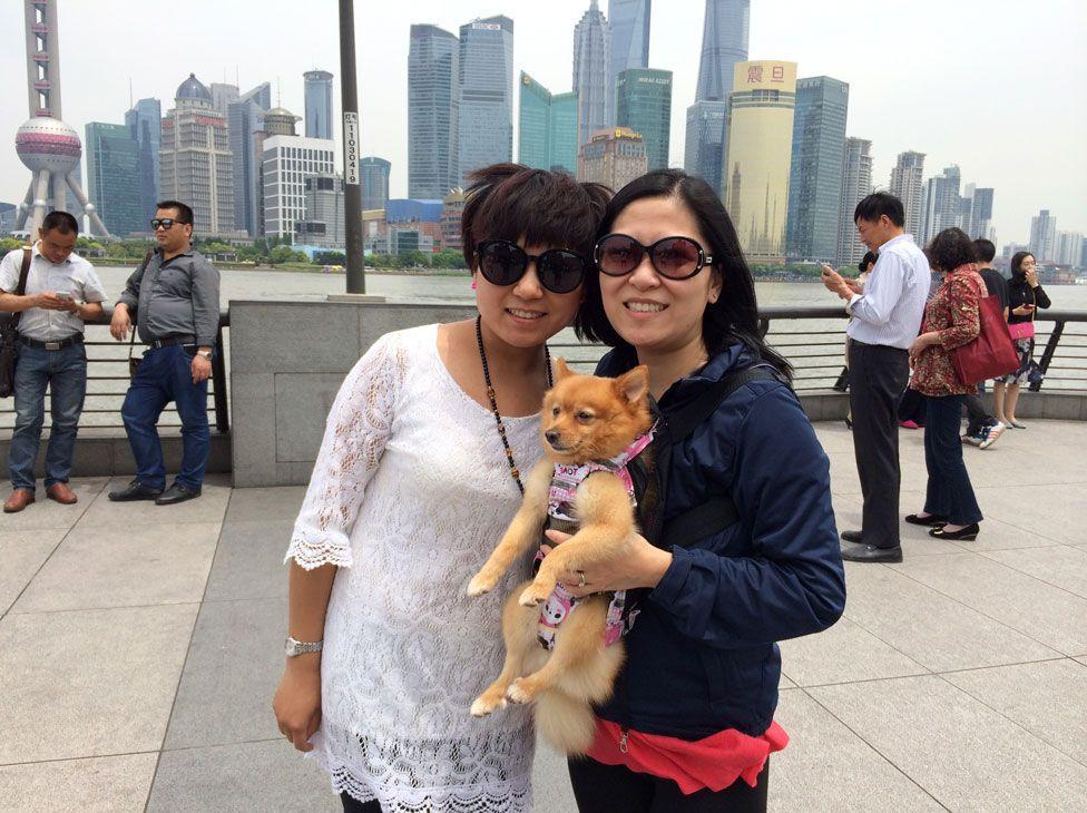 Yang Yang and Juliana Liu in Shanghai