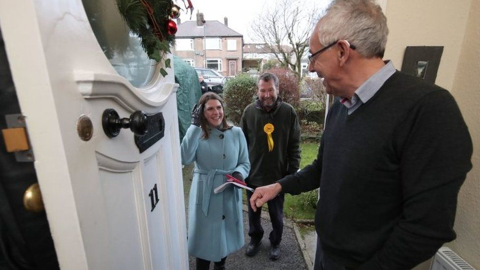 Jo Swinson on the doorstep