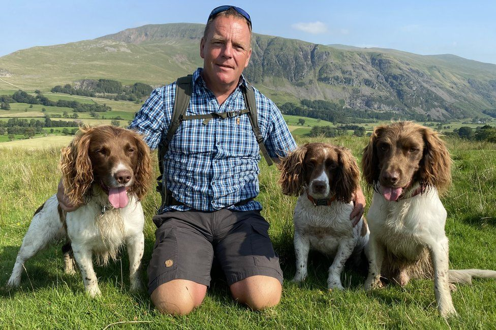 Kerry and his dogs
