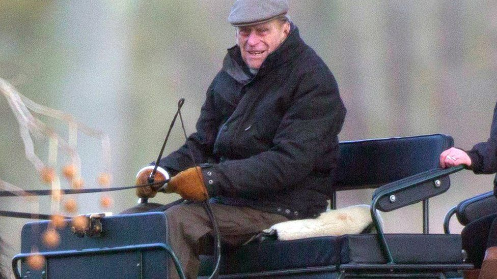 Prince Philip carriage driving in Windsor