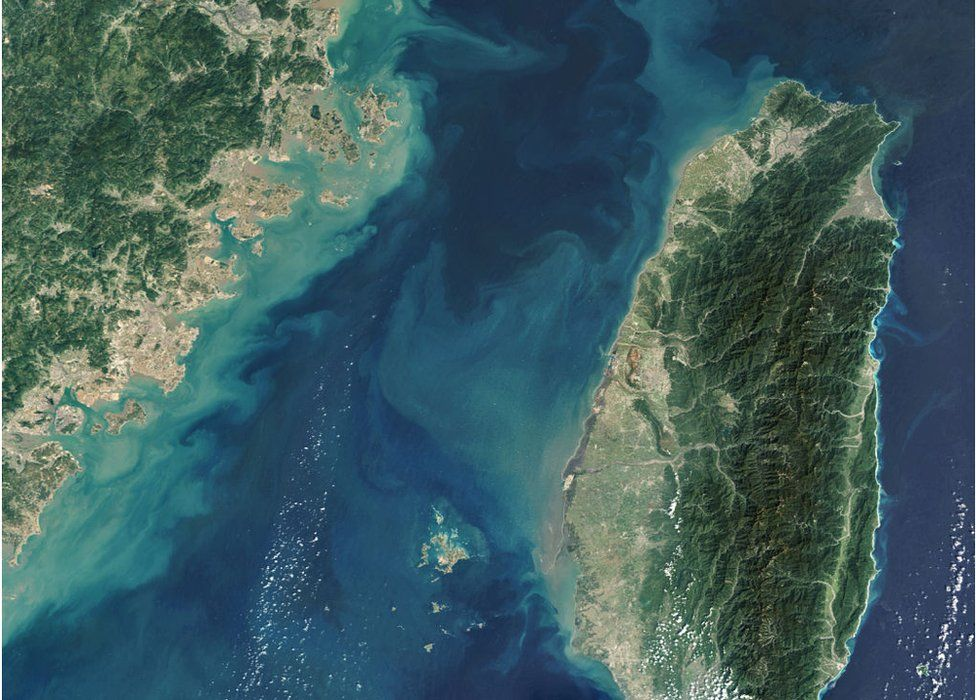 The Taiwan Strait, is a strategic maritime shipping route located between the coast of southeast China and Taiwan.