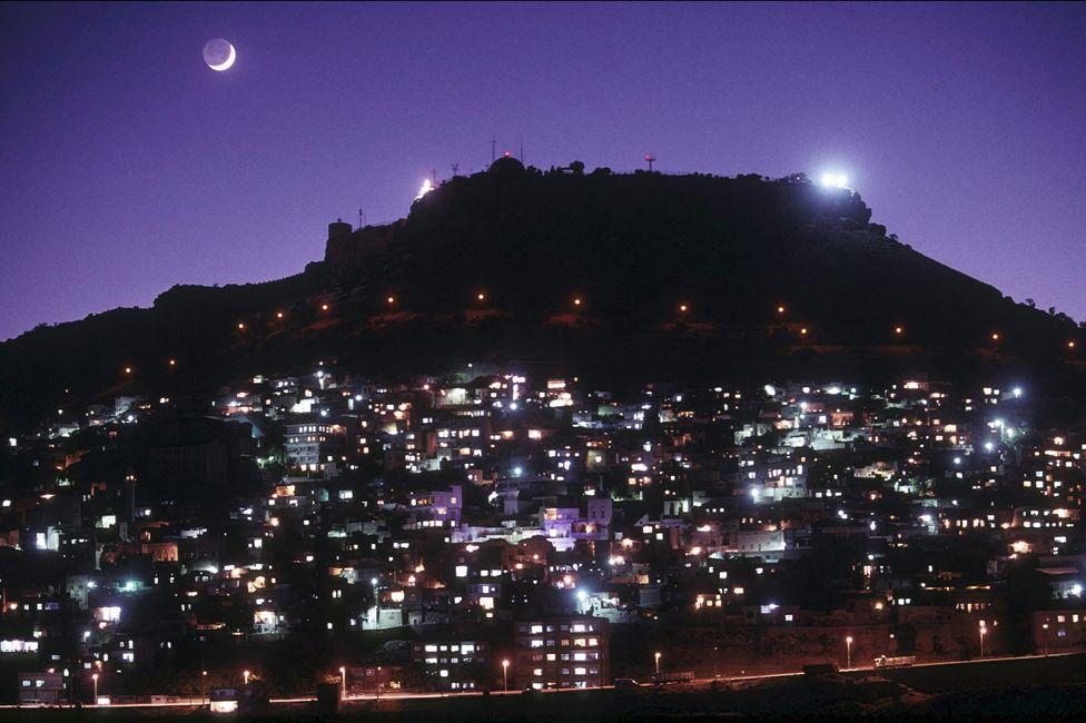 The city of Mardin by night