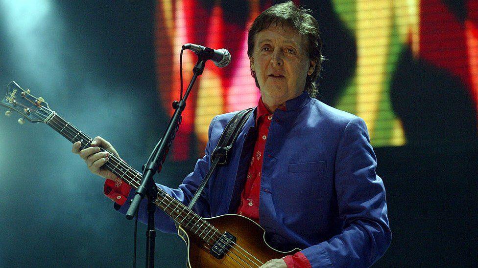 Sir Paul McCartney at Glastonbury 2004